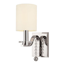 Hudson Valley Lighting - Hudson Valley Lighting 8161 Bolton 1 Light Wall Sconce - Hudson Valley Lighting 8161 Bolton 1 Light Wall SconceThe Bolton Collection features contemporary styling accented with dangling beads and disks of glass.Hudson Valley Lighting 8161 Features: