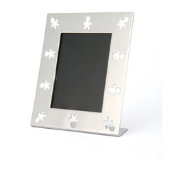 "Alessi - Alessi ""Mini Girotondo"" Photo Frame - Here's a frame that'll last as long as all of your fond memories. Tuck your favorite photo inside this stainless steel frame and place it in a position of permanence anywhere in the house."