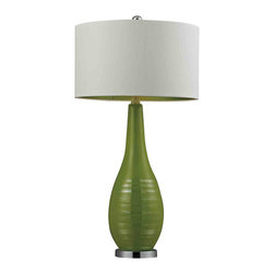Dimond Lighting - Dimond Lighting HGTV272 HGTV Home Lime Green Ceramic Table Lamp - Dimond Lighting HGTV272 HGTV Home Lime Green Ceramic Table Lamp