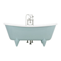 The Tub Studio - Gasparo Acrylic French Bateau Claw-Foot Tub Package, Aquatint Blue Exterior - Product Details
