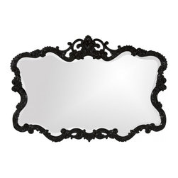 Howard Elliott - Talida Unique Glossy Black Lacquer Mirror - Our classic yet chic Talida mirror is finished in a glossy black lacquer.