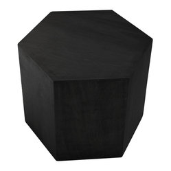 Hive Honeycomb in Hexagon Table, Matte Black