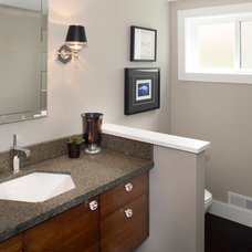 Traditional Powder Room by Strite design + remodel