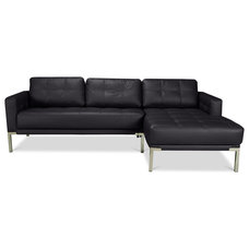 Modern Sectional Sofas Newport Sectional Couch Black Left