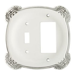 Liberty Hardware - Liberty Hardware 144388 Arboresque WP Collection 5.37 Inch Switch Plate - White - A simple change can make a huge impact on the look and feel of any room. Change out your old wall plates and give any room a brand new feel. Experience the look of a quality Liberty Hardware wall plate. Width - 5.37 Inch, Height - 5.08 Inch, Projection - 0.24 Inch, Finish - White Antique, Weight - 0.44 Lbs.