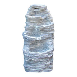 Four Tier Rock Falls Outdoor Fountain