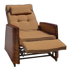 Great Deal Furniture - Westwood Outdoor Glider Recliner Chair - Relax outdoors with our Westwood Outdoor Recliner. Engineered with comfort in mind, the recliner is built around an aluminum frame, covered with PE wicker to withstand the weather. Topped off with comfy cushions allow for hours of relaxation and reuse.