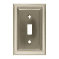Liberty Hardware - Liberty Hardware 64209 Architectural WP Collection 3.15 Inch Switch Plate - A simple change can make a huge impact on the look and feel of any room. Change out your old wall plates and give any room a brand new feel. Experience the look of a quality Liberty Hardware wall plate. Width - 3.15 Inch, Height - 4.9 Inch, Projection - 0.2 Inch, Finish - Satin Nickel, Weight - 0.29 Lbs.