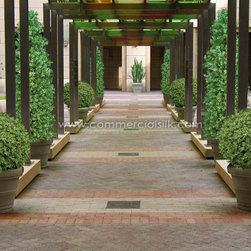 Outdoor Artificial Plants - PermaLeaf Plants by Commercial Silk Int'l - PermaLeaf Outdoor Artificial Plants by Commercial Silk Int'l are manufactured to be lifelike replications of the living plant and they are inherently fade resistant. Choose from a large variety of flowers, plants, hedges, trees, topiaries and more for your project.
