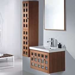 """Vizini II - Modern Bathroom Vanity Set 28.3"""" - The Vizini II is a contemporary bathroom vanity set that embraces the latest trend in luxury modern bathroom design by choosing to incorporate sophisticated designs and shapes into every bathroom."""