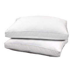 Hotel Grand - Hotel Grand 1000 Thread Count Optima Loft Down Alternative Pillow (Set of 2) - Optima-loft pillows keep necks supported and numbered sheep unemployed. The luxurious pillow covers are 100-percent Egyptian cotton with a soft 1000 thread count, while the pillow is filled with practical and comfortable polyester.