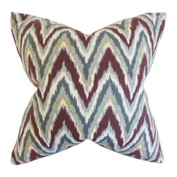 "The Pillow Collection - Matisse Zigzag Pillow, Currant 18"" x 18"" - Bring a rich vibe to your living space with this accent pillow."