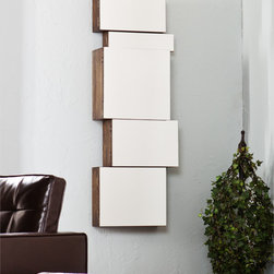 Upton Home - Upton Home Alcoa Mirrored Wall Mount Storage Box 5pc Set - These Upton Home mirror wall mount storage boxes are a great way to add an art deco accent to your home while providing you with wall storage. Each wooden box has a burnt oak finish and mirrored front, guaranteed to help add light and depth to any room.
