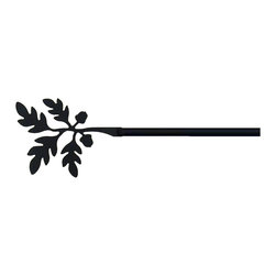 Village Wrought Iron - 93 Acorn Curtain Rods - 93 Acorn finely crafted curtain rods are available in four sizes. 21-35 inch, 36-60 inch, 61-112 inch and 113-130 inch. Rod lengths do not include the Silhouette or Finial ends. Standard end bracket mounting hardware and screws are included unless an alternate rod mounting hardware is selected. Our curtain rods are decorative, functional, long lasting and handcrafted in the USA using the finest materials and time- tested methods of craftsmanship. Quality and durability are priorities for our products. Our coated products have one of the most long-lasting finishes available - a flat black baked-on powder coated finish that will last for many years. Silhouette approximate size is 4 1/2 Inch W x 3 1/4 Inch H. Rod diameter is .50 inch. Silhouettes are welded in place for added security. Standard Center Support mounting hardware and screws are included for curtain rods 61 inches and longer unless alternate mounting hardware is selected. Supporting American Workers where the timeless trade of ironworking can still be found.