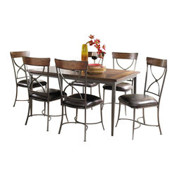 Hillsdale - Hillsdale Cameron 7-Piece Rectangular Dining Set with X Back Chairs - Hillsdale - Dining Sets - 4671DTBRC27
