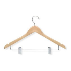 Honey Can Do Basic Suit Hangers with Clips - Set of 12 - About Honey-Can-DoHeadquartered in Chicago, Honey-Can-Do is dedicated to helping you organize your life. They understand that you need storage solutions that are stylish and affordable at the same time. Honey-Can-Do focuses on current design trends and colors to create products that fit your decor tastes while simultaneously concentrating on exceptional quality. When buying a Honey-Can-Do product, you can be sure you are purchasing a piece that has met safety control standards and social compliance methods.