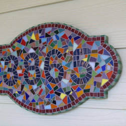 Custom Made House Number Plaque by Mosaic Island Art - This mosaic tile is a subtle way to display your house number.