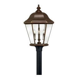 Hinkley Lighting - Copper Bronze 4 Light Post Light from the Clifton Park Collection - Hinkley Lighting 2407CB 4 Light Clifton Park Post Mount Light, Copper Bronze This Hinkley Lighting product has a copper bronze finish. For use with four