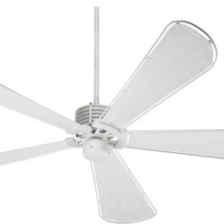 "Quorum International 159725-8 Dragonfly White Outdoor 72"" Ceiling Fan"