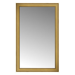 """Posters 2 Prints, LLC - 41"""" x 65"""" Arqadia Gold Traditional Custom Framed Mirror - 41"""" x 65"""" Custom Framed Mirror made by Posters 2 Prints. Standard glass with unrivaled selection of crafted mirror frames.  Protected with category II safety backing to keep glass fragments together should the mirror be accidentally broken.  Safe arrival guaranteed.  Made in the United States of America"""