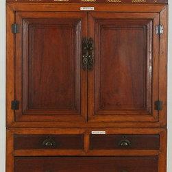 Cabinet with Bone Inlay - Cabinet with Bone Inlay