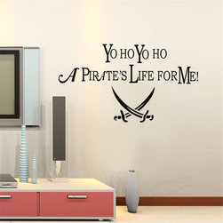 ColorfulHall Co., LTD - Wall Decals For Kids Yo Yo Yo a pirate life for me with a pirate Icon logo - Wall Decals For Kids Yo Yo Yo a pirate life for me with a pirate Icon logo