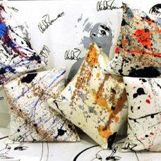 Contemporary Decorative Pillows Splatter Pillows