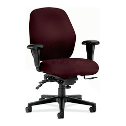 Rulers.com - HON 7800 Series Mid-Back Swivel/Tilt Task Chair - 7800 Series task chairs look comfortable at a glance and become even more so with a few simple adjustments.