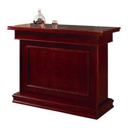 Coaster - Coaster Mitchell Home Bar Unit with Storage & Game table in Cherry - Coaster - Home Bars - 100128 - Create a game room your guests will admire with the Mitchell collection. Featuring unique game tables comfortable game chairs bars and bar stools this collection will establish a fun and inviting environment. With solid oak construction for durability this group is available in either a cherry or oak finish to accommodate your stylistic needs.