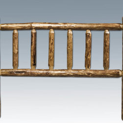 """Montana Woodworks - Glacier Country Log Headboard, California King - A Unique and interesting way to bring the rustic lifestyle into your home. These popular headboards from the """"Glacier Country"""" collection allow you to gain the look of a log bed at a lower price. Adding the log headboard to your existing bed is a great way to start living rustic! The artisans at Montana Woodworks finish the headboards in the """"Glacier Country"""" collection style for a truly unique and one-of-a-kind look reminiscent of the Grand Lodges of the Rockies, circa 1900. First we remove the outer bark while leaving the inner, cambium layer intact for texture and contrast. Then the process is completed by a professional, eight step spraying process that applies stain and lacquer for a beautiful and long lasting finish. The headboard comes undrilled so that you can adapt it to your particular style of bed frame or mount to the wall. Comes fully assembled. 20-year limited warranty included at no additional charge. Hand Crafted in Montana U.S.A.; Solid, U.S. grown wood; Unique, one-of-a-kind Glacier Country style.; Heirloom Quality; 20 Year Limited Warranty; Durable Build, Fit and Finish; Each Piece Signed By The Artisan Who Makes It; Mortise and Tenon Joinery; Customer can custom fit to most bed frames. Dimensions: 76""""W x 6""""D x 47""""H"""