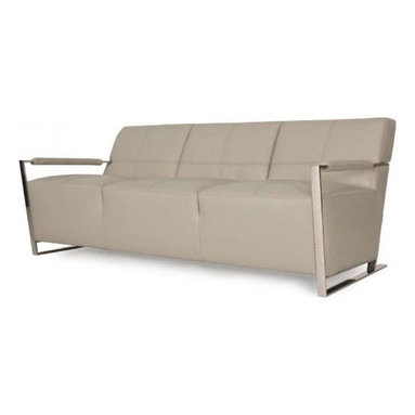 Leather vs. Fabric - Leather is much more durable than any fabric will be. It is easier to clean up, doesn't show wear and tear as easy or as fast as a typical fabric will. -- Uno Leather Sofa