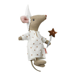 Maileg - Mouse Tooth Fairy - In many cultures, the Tooth Fairy tradition is represented by the Tooth Mouse. This sweet stuffed mouse combines the two customs and comes replete with a tiny pocket for your child's tooth to be replaced with a coin!