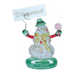 WL - 3.75 Inch Party Kitchenware Winter Snowman Name Place Card Holder - This gorgeous 3.75 Inch Party Kitchenware Winter Snowman Name Place Card Holder  has the finest details and highest quality you will find anywhere! 3.75 Inch Party Kitchenware Winter Snowman Name Place Card Holder  is truly remarkable.