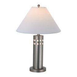 Lite Source - Table Lamp, Ss W/Wht Glass Decoration, Type A 100W & B 40W - Table Lamp, Ss W/Wht Glass Decoration, Type A 100W & B 40W