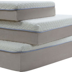 ACME Furniture - Acme Lavell 12 Eastern King Memory Foam Mattress - The 12-inch Memory Foam Mattress features a 1 gel foam with one blue strip border line surrounding followed by a 1QR memory foam and an 8-inch base support foam layer.