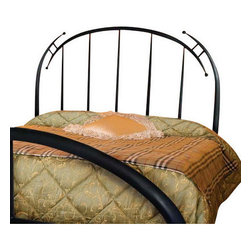 Mathews & Company - Pinnacle Wrought Iron Headboard, King - The Pinnacle Wrought Iron Headboard is a wonderful piece for your master suite or guest bedroom. Pictured in Black finish.