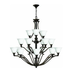 Hinkley Lighting - Hinkley Lighting 4659-OPAL Bolla 18 Light 3 Tier Chandelier - Eighteen Light 3 Tier Chandelier with Etched Opal Shade from the Bolla CollectionFeatures: