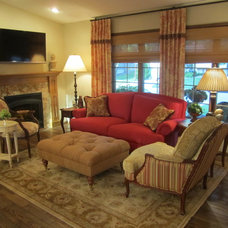 Traditional Family Room by Shannon Boyle