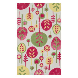 "Loloi Rugs - Loloi Rugs Zoey Collection - Pink / Multi, 3'-0"" x 5'-0"" - Zoey is a delightful collection of lighthearted, cheerful patterns in pinks, blues and greens that are perfect for young kids or the young at heart. Power loomed in China of super soft polyester microfiber, Zoey rugs are durable, yet soft enough for infants and toddlers to cozy up to.�"