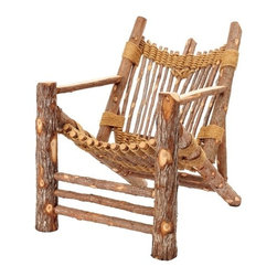 ecofirstart - Irie Adirondack - One part seat, one part hammock, this rope and wood Adirondack chair is sure to put you in a mountain mood. It's made completely by hand without power tools from branches salvaged during logging. It's ecofriendly, sculptural, woodsy and perfect for your luxe lodge or placid porch.