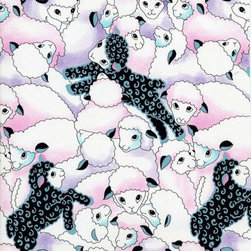 """SheetWorld - SheetWorld Fitted Crib / Toddler Sheet - Colorful Sheep - Made in USA - This luxurious 100% cotton """"woven"""" crib / toddler sheet features the cutest pastel colored sheep print. Our sheets are made of the highest quality fabric that's measured at a 280 tc. That means these sheets are soft and durable. Sheets are made with deep pockets and are elasticized around the entire edge which prevents it from slipping off the mattress, thereby keeping your baby safe. These sheets are so durable that they will last all through your baby's growing years. We're called SheetWorld because we produce the highest grade sheets on the market today. Size: 28 x 52."""