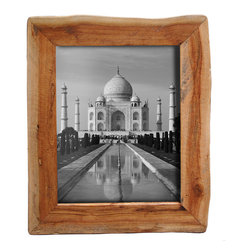 """Bambeco Reclaimed Natural Wood Frame 8""""x10"""" - These unique picture frames show off the raw beauty of nature in its purest form. Made from reclaimed California wood, these frames maintain a natural shape and will show off your favorite photos with organic style. They can stand alone or hang together on a wall for an artistic display. Because these frames are hand crafted from a natural source, no two are alike. Each will retain the natural grain and may contain a combination of wood species and color variations. Also available in: Reclaimed Redwood. Also available in: 3.5""""x3.5"""", 4""""x6"""", 5""""x7""""."""