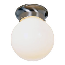 Premier - Globe 6 inch Ceiling Fixture - Brushed Nickel - AF Lighting 558735 6in. D by 7in. H Globe Ceiling Fixture, Brushed Nickel Finish.