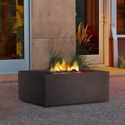 Real Flame - Real Flame Baltic Square Fire Table Kodiak Multicolor - T9620LP-KB - Shop for Fire Pits and Fireplaces from Hayneedle.com! The Real Flame Baltic Square Fire Table Kodiak is a safe attractive and clean burning alternative to standard fire pits. This fiber-concrete fire table burns liquid propane lights electronically and works with a standard 20-lb. tank. Rated at 50 000 BTU s this fire table will warm you and your guests for 9 hours on it s highest setting and up to 26 hours on low. When you re finished enjoying your fire cover the table with the included lid and use it as table space. Virtually maintenance free and completely weather proof this fire box is sure to become the star of your patio. About Real FlameReal Flame is one of the leading wholesalers of indoor gel-fueled UL listed electric fireplaces and outdoor gel-fueled CSA certified natural gas and propane and wood burning fireplaces. All of Real Flames designs are exclusive and bring the beauty and natural ambience of a fire and hearth to any setting. All of Real Flame s products are designed and manufactured to meet their demanding standards for safety value and quality.