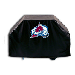 """Holland Bar Stool - Holland Bar Stool GC-ColAva Colorado Avalanche Grill Cover - GC-ColAva Colorado Avalanche Grill Cover belongs to NHL Collection by Holland Bar Stool This Colorado Avalanche grill cover by HBS is hand-made in the USA; using the finest commercial grade vinyl and utilizing a step-by-step screen print process to give you the most detailed logo possible. UV resistant inks are used to ensure exeptional durablilty to direct sun exposure. This product is Officially Licensed, so you can show your pride while protecting your grill from the elements of nature. Keep your grill protected and support your team with the help of Covers by HBS!"""" Grill Cover (1)"""