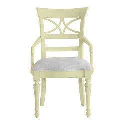 Stanley Furniture - Coastal Living Cottage Sea Watch Arm Chair - Sea Grass Finish - Combine a filigree back and chamfered legs and you've got reason to sit a little longer. Gently bowed arms are comfortable, yet narrow enough to cup in your palm. Features a cushioned seat in your choice of five fabrics. Made to order in America.