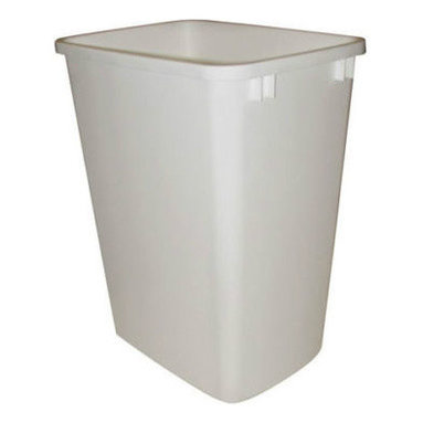 """Rev-A-Shelf - Rev-A-Shelf RV-35-8 35 Qt. Replacement Waste Bin - White - In need of a replacement 35 Quart garbage can? This Rev-A-Shelf RV-35-8 35 Quart Model in White is a replacement waste bin for the RV-12, RV-18 Series, 5349 Series & 4WCTM Series - or it can be used as a stand alone garbage can. Physical specifications: 14-3/8"""" W x 10-1/2"""" D x 17-7/8"""" H. Lids Sold Separately."""