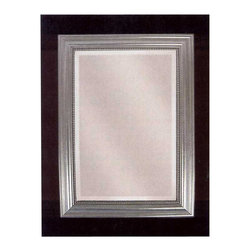 Silver Leaf Rectangle Large Classic Wall Mirror - *This decorative mirror features a wood frame finished in silver leaf with a gray glaze. Mirror is beveled.