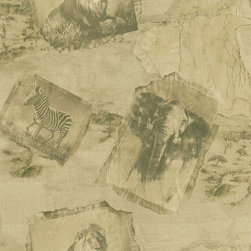 Brewster - National Geographic Home Animal Kingdom Wallpaper - Global chic — the ideal destination for your decor. This sepia-toned, safari-inspired wallpaper brings a sense of retro adventure to your favorite setting.