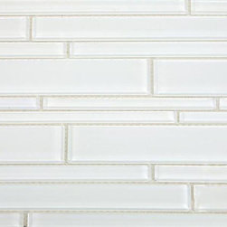 Spa Tuscany Pattern Super White Glass Tile - Spa Tuscany Super White Pattern Glass Tiles    These beautiful mosaics in polished super white is a stunning design. These tiles are mesh mounted and will bring a sleek and contemporary design to any room. This is our brightest white glass on the market. The color is painted on the back of the tiles so it will not scratch or chip.